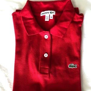 Lacoste Women's Cotton Pique Polo Shirt 2 buttons